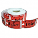 Rotoli di biglietti d'ingresso in carta di alta qualità