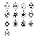 Diversi disegni di timbri in stock