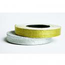 Rotoli di nastro in argento metallizzato e oro metallizzato per braccialetti in tessuto