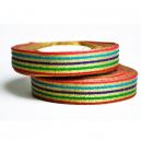 Fancy ribbon roll con motivo multicolor metallico per braccialetti in tessuto