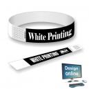 Braccialetti di carta stampa bianca Progetta te stesso