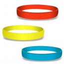 Braccialetti in silicone bianco a colori