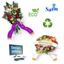 Disegna i nastri bouquet online con testo e logo