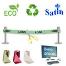 Progettare online nastro di inaugurazione eco-compatibile e sostenibile.