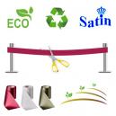 Inaugurazione nastro senza stampa. Ecologico, ecologico e sostenibile.