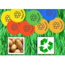 Token sostenibili fatti di fecola di patate