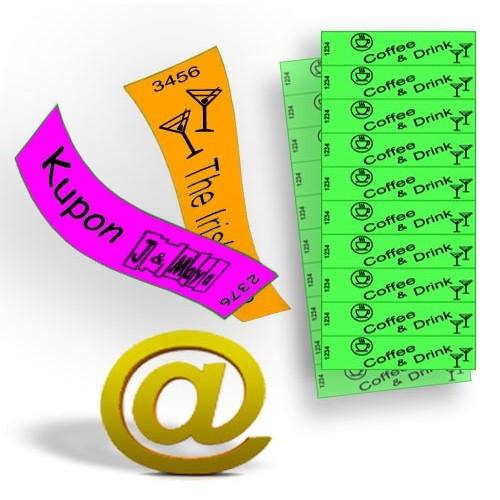 Buoni e biglietti stampati su carta Tyvek