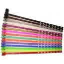 Braccialetti di plastica stretta da 7 mm con chiusura a scatto