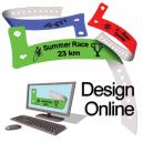 Disegna i braccialetti di plastica online con logo e testo