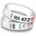 Numero di pettorali da polso con codice a barre e numerazione sequenziale