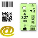 Biglietti per guardaroba termico personalizzati con testo e logo