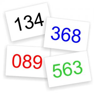 Numeri di gara in pronta consegna