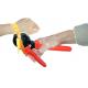 Utensile di crimpatura per pressare la guarnizione su braccialetti tessili