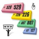 Prize disegna biglietti della lotteria 3 parti con numerazione sequenziale