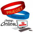 Disegna i braccialetti in silicone online con il tuo testo e il tuo logo