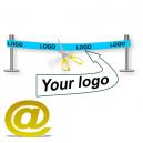 Invia il tuo disegno di un nastro di inaugurazione con logo e testo