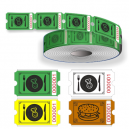 Rotoli di biglietti alimentari con numerazione sequenziale