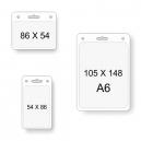 Tasche per carte trasparenti in diverse dimensioni