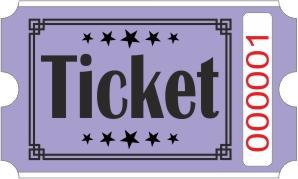 Biglietto Ticket - Viola
