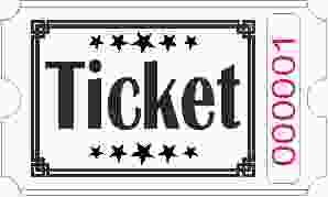 Biglietto Ticket - Bianco